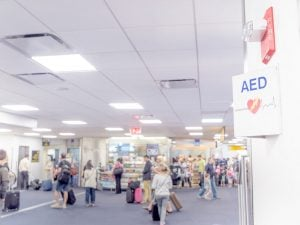 AEDs are required in airports