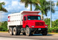 Picture of dump truck involved in fatal crash