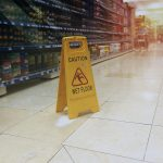 Young Woman Falls In Big Box Store
