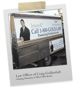 Craig Goldenfarb Law Firm Ad