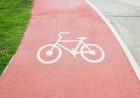 Bicycle pathway on road