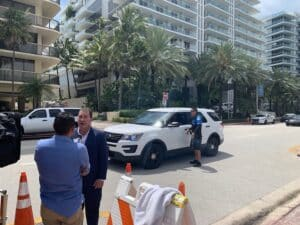 Craig Goldenfarb is interviewed in Miami to talk about the condo collapse